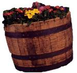 Half Whiskey Barrel Planters