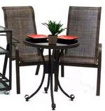 Outdoor High Back Sling Chairs Set
