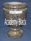 Academy Black Granite Vase